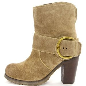 Very Volatile Lilly Olive Leather High Heel Boots
